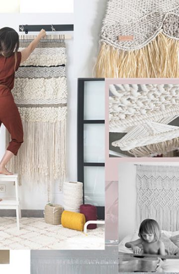 moodboard tapices macrame